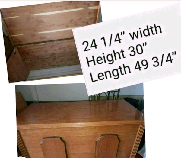 Solid oak Hope Chest