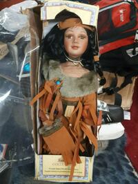 Sabre collection porcelain native doll  Calgary, T2A 0N7