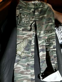 gray and black camouflage cargo pants 845 mi