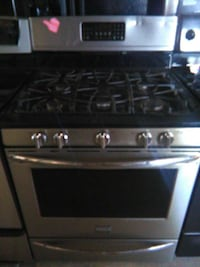 New Frigidaire stainless gas conventional stove
