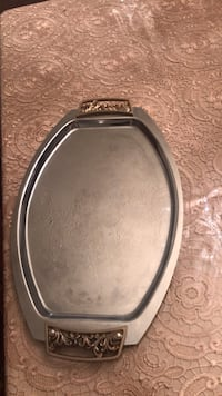 Silver and gold serving tray Great Falls, 22066