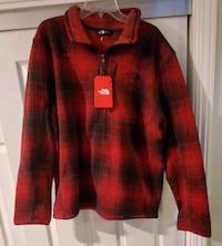 The North Face Mens Sweater Knit Pullover Quarter Zip Size XL
