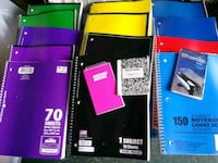 Lot of new spiral notebooks Hamilton Township, 08330