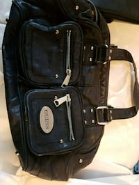 black and white leather shoulder bag Calgary, T1Y 1E2