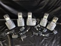 Five Motorola L705 Black Cordless Home Phone Set w/ Plug Ins Winnipeg