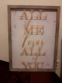 Framed song quote.