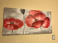 two brown-and-red flower paintings Edmonton, T5Z 3S3