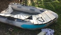 White and blue inflatable boat Sarasota, 34241