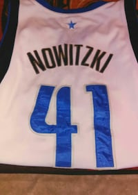 white and blue Nowitzki #41 NBA jersey Andrews, 79714
