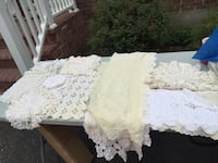 Assorted white & beige handmade dollies and runners Smithtown, 11780