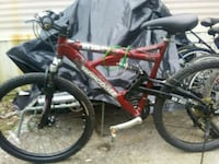 red and black full suspension mountain bike Knoxville, 37918