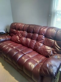 Dual recliner burgandy leather River Forest, 60305