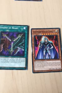 Legend Of Heart with Legendary Knight Timeaus yugioh cards Kitchener, N2E 4C3