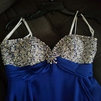 women's blue embellished strapless prom dress West Columbia, 29170