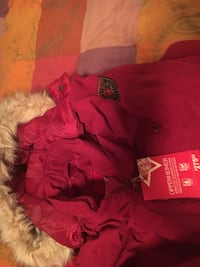 Red and brown fur coat brand new  Markham, L3S 3Y9