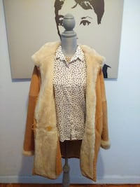 J Perry Thick Plush Winter Leather Coat Toronto