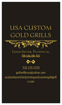 Usa CUSTOM GOLD GRILLS And silver grills Kennebec, 57544