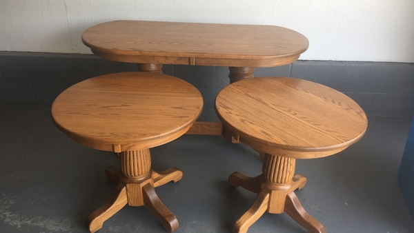 brown wooden tables