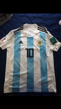 white and blue Adidas soccer jersey Ventura, 93001