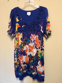 blue and red floral scoop-neck dress Hoover, 35242