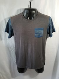 Men's Blue Crown size Large Shirt Gray/blue Avondale