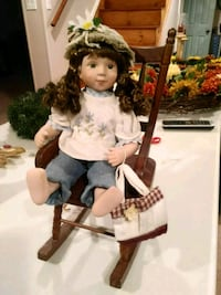 Porcelain Doll with Rocker
