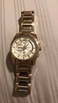 Attractive men's gold fossil chronograph watch with link bracelet Great Falls, 22066