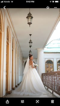 Wedding dress including 3meters tulle