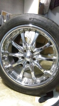 Full set of 4 BOSS - rims - WITH TIRES  Vancouver, V5N 2S7