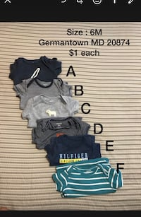 Baby clothes lot 6M /ropa bebe  Germantown, 20874