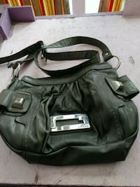 black leather 2-way handbag 2343 mi