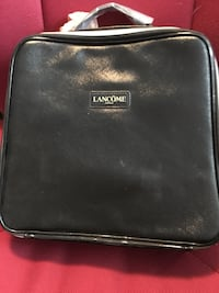 black Lancome leather handbag