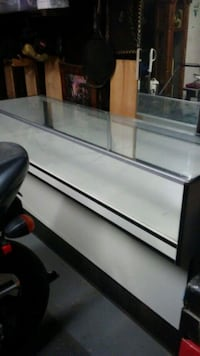Glass & wood display willing to trade for?