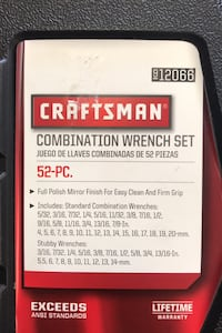 Craftsman Wrench Set