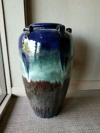 blue and brown ceramic vase Rochester