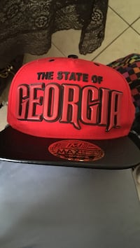 red and black The State of Georgia snapback cap Robards, 42452