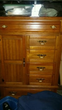 brown wooden bureau w/ cabinet with drawers Waltham, 02453