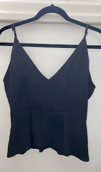 F21 Black Peplum Going Out Tank Top in Soze Small Toronto, M9A 4A4