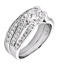 "Russian ""Ice on Fire"" Sterling Silver CZ Ring Set Las Vegas, 89166"