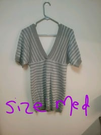 white and gray striped long-sleeved shirt Selkirk, R1A 1R7