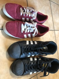 Adidas shoes size 11 US 10/10 like new  Selling together   Black Pro model and red Silas    Katy, 77449