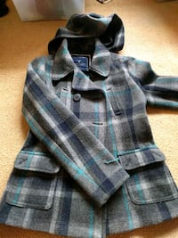 Wool American eagle button up jacket.