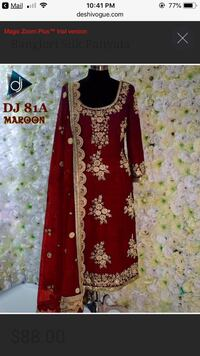 women's red and black floral traditional dress Alexandria, 22311