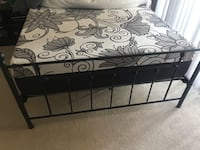 black metal bed frame with white mattress Arlington, 22201