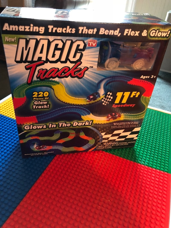 Magic Tracks car and track set. New