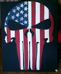 Punisher flag of America painting Youngsville, 16371