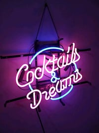 Cocktails and Dreams Neon sign Washington, 20003