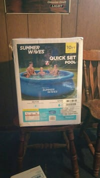 """Summer Waves 10'x30""""Quick Set Inflatable Ring Above Ground Pool"""
