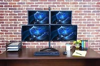 4 screen monitor setup with mount Jersey City, 07304