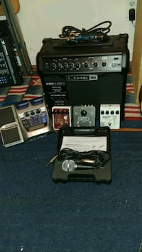 Brand new amp and 3 fairly new electro harm peds